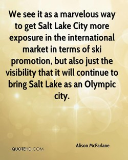 We see it as a marvelous way 