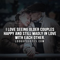 I LOVE SEEING OLDER COUPLES 