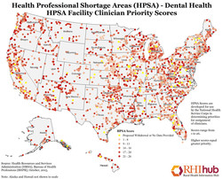 Health Professional Shortage Areas (HPSA) - Dental Health 