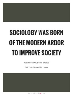 SOCIOLOGY WAS BORN 
