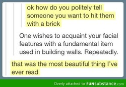 ok how do you politely tell 