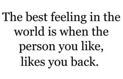 The best feeling in the 
