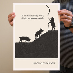 In a nation ruled by swine, 