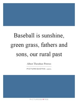 Baseball is sunshine, 
