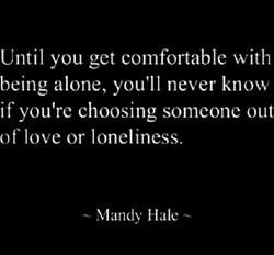 Until you get comfortable with 