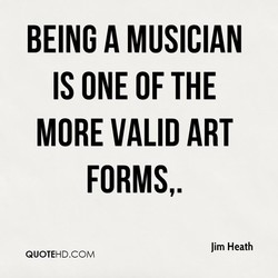 BEING A MUSICIAN 