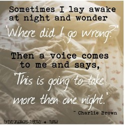 ometimes I lay awake 