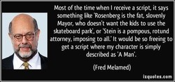 Most of the time when I receive a script, it says 