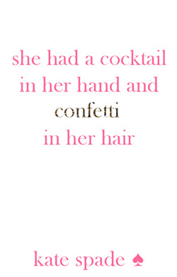 she had a cocktail 