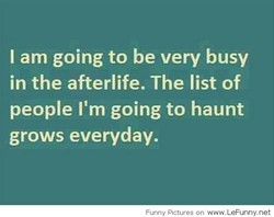 I am going to be very busy 
