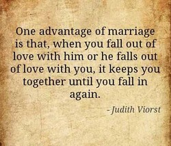 One advantage of marriage 