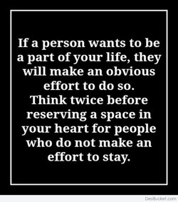 If a person wants to be 