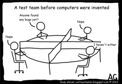 A test team before computers were invented 