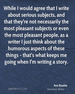 While I would agree that I write 