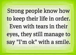 Strong people know how 