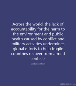 Across the world, the lack of 