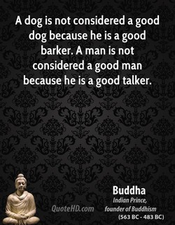 A dog is not considered a good 