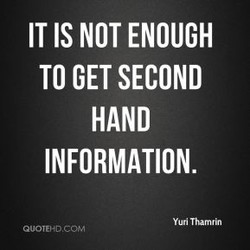 IT IS NOT ENOUGH 