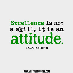Excellence is not 