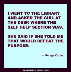 WENT TO THE LIBRARY 