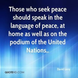 Those who seek peace 