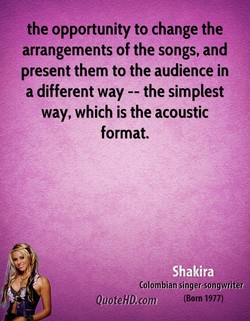 the opportunity to change the 