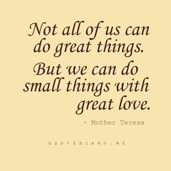Not all of us can 