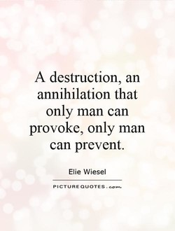A destruction, an 