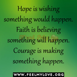 Hope is wishing 