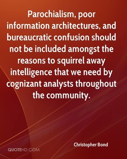 Parochialism, poor 