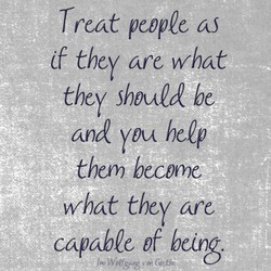 Treat people 
