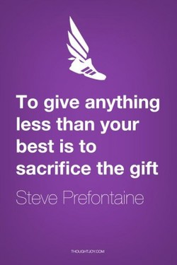 To give anything 