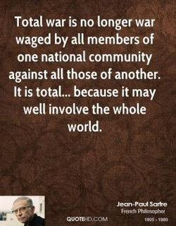 Total war is no longer war 