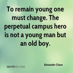 To remain young one 