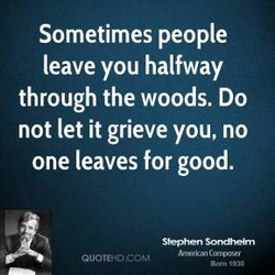 Sometimes people 