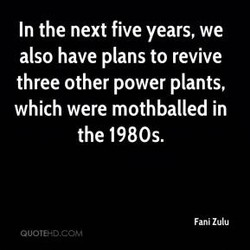 In the next five years, we 