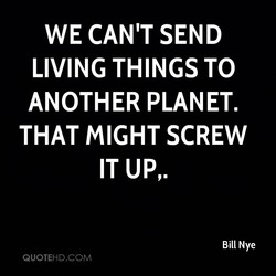 WE CAN'T SEND 