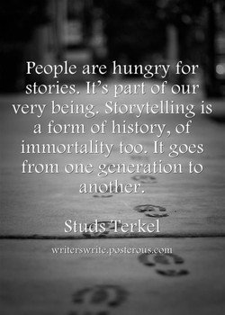 People are hungry for 