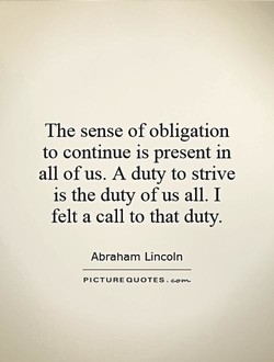 The sense of obligation 