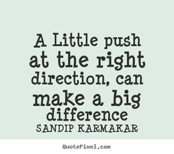 A Little push 