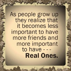 As people grow up 