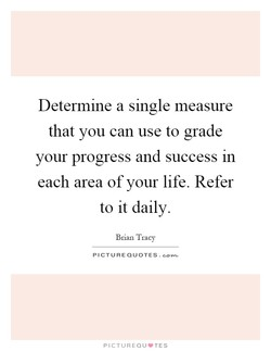 Determme a single measure 
