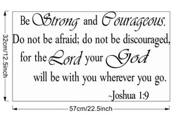 Be O$trong and our—us. 