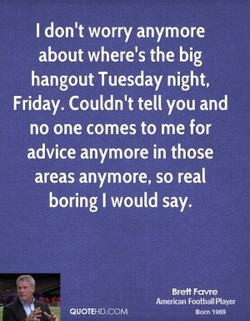 I don't worry anymore 