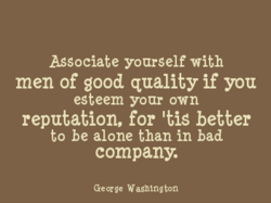 Associate yourself with 