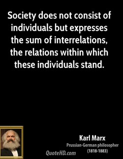 Society does not consist of 