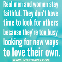 Real men and women stay 