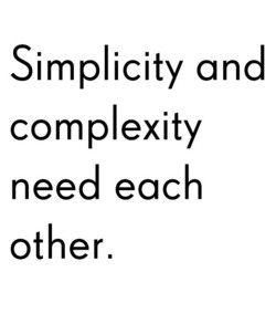 Simplicity and 