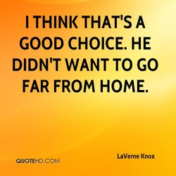 I THINK THAT'S A