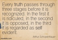 Every truth passes through 